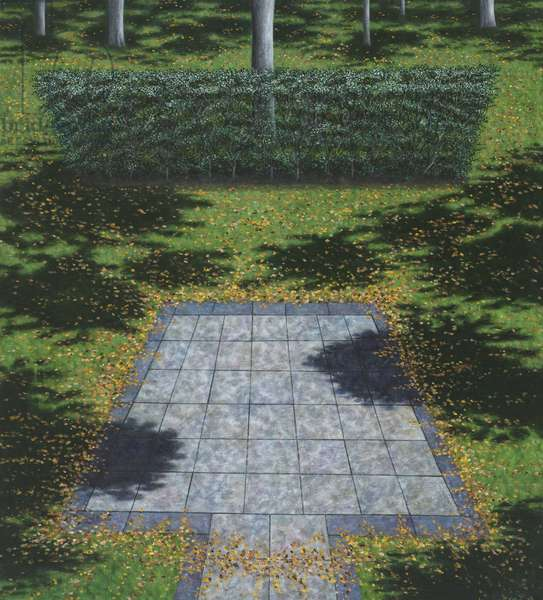 Patio and Hedge, 2008 (oil on linen)