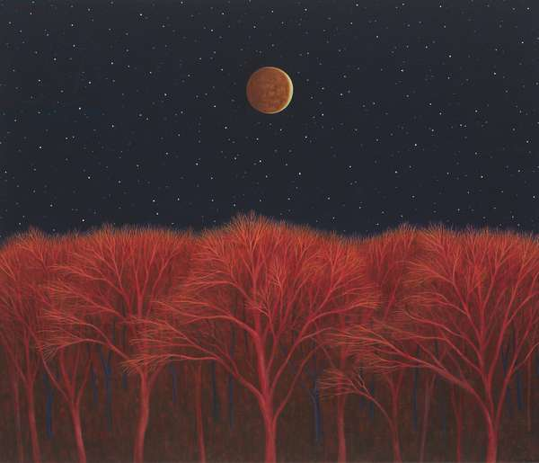 Lunar Eclipse II, 2008 (oil on linen)
