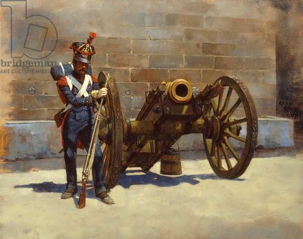 French Gunner Howitzer 1808 , 2007 (oil on board)