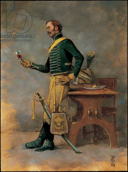 Trooper: 5th Chasseurs a Cheval 1805, 2004 (oil on board)