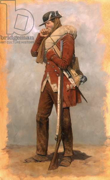Guilford Courthouse, British Infantryman, 2001 (oil on linen)