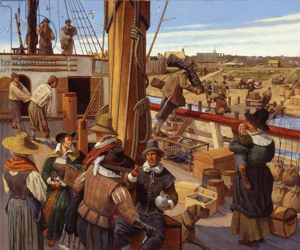 Jamestown 1620s, 2003 (oil on linen)