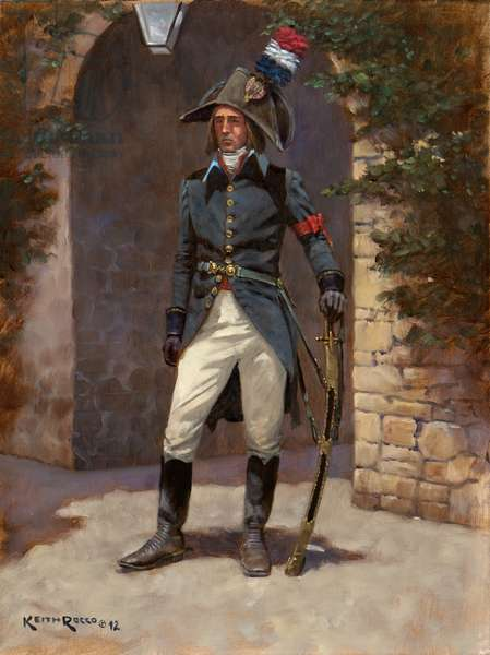 French General of Division Aide-de-Camp, 1796, 2012 (oil on board)