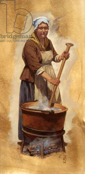 Washer Woman, Fort McHenry, 2004 (oil on linen)
