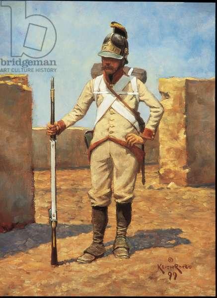 German Infantryman: Lattermann Regiment 1800, 1999 (oil on board)
