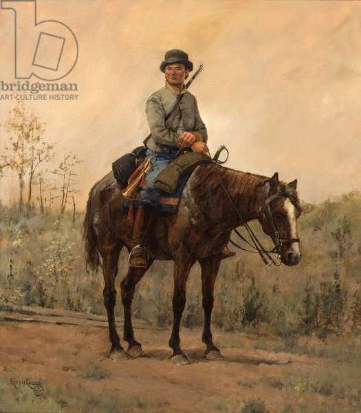 Confederate Cavalry Bugler, 1985 (oil on linen)