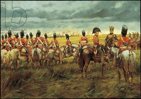 Before the Charge - 1815, 2000 (oil on linen)