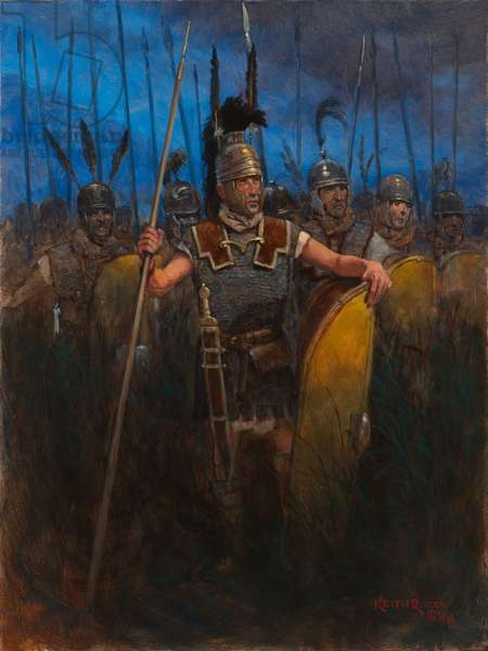 Triarii Punic Wars, Ancient Rome, 2018 (oil on board)