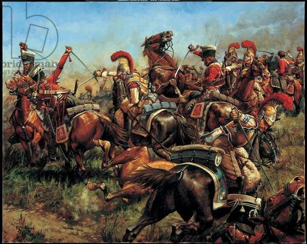 The Melee, Borodino - 1812, 1997 (oil on linen)