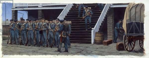Fort Scott Barracks, 1998 (oil on linen)