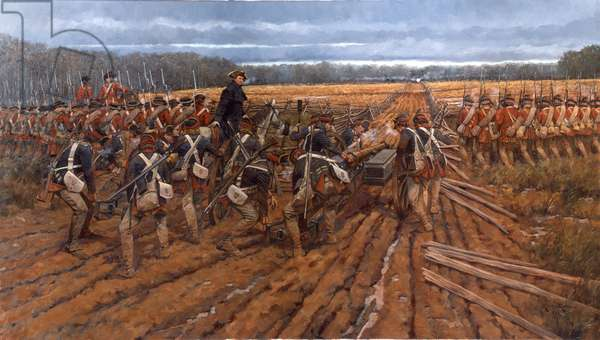 Guilford Courthouse, The British Advance, 2001 (oil on linen)