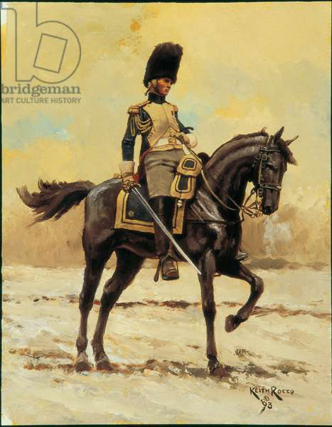 Officer: Horse Grenadiers of the Imperial Guard 1807, 1993 (oil on board)