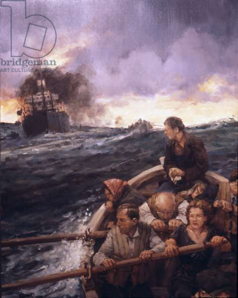 Lifeboat, 1986 (oil on linen)