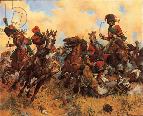 A Chasseur's Fate - 1805, 1989 (oil on linen)