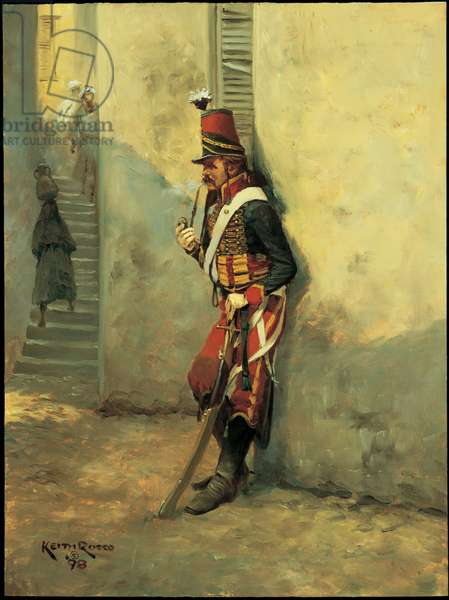 Trooper: 7th Bis Hussars, Egypt (first study), 1799, 1998 (oil on board)