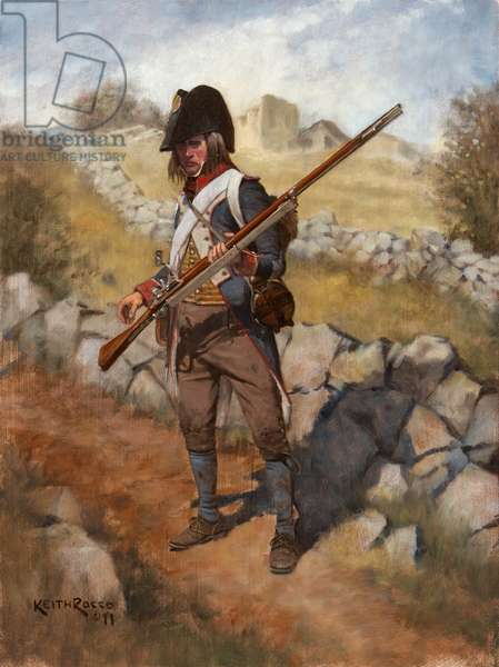 French Infantry Fusilier, 1796, 2011 (oil on board)