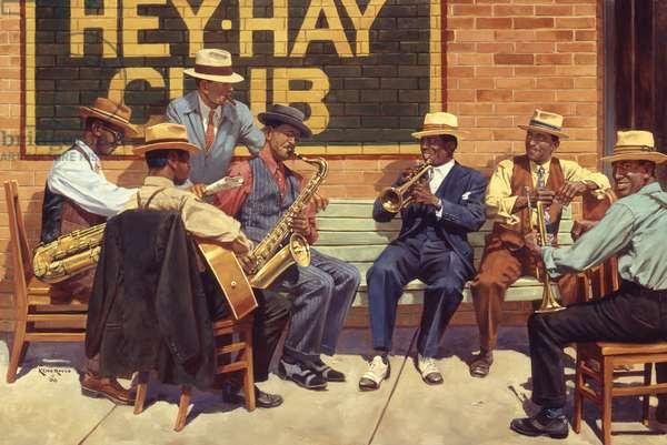 Hey Hay Club, 2000 (oil on linen)