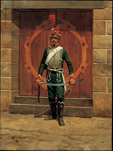 22nd Chasseurs a Cheval, Egypt, 1798, 2001 (oil on board)