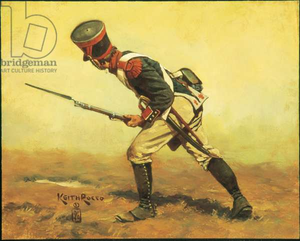 French Line Grenadier 1813, 1996 (oil on board)