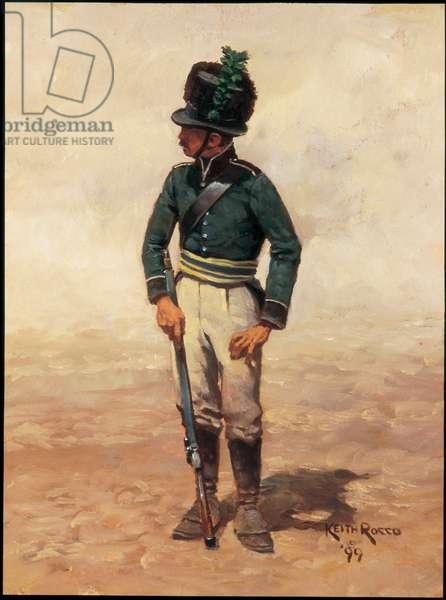 Private: Narike-Varmlands Sharpshooter Regiment, Sweden 1807, 1999 (oil on board)