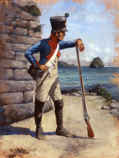 French 2nd Colonial Battalion 1812, 2006 (oil on board)
