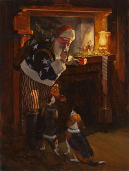 Victorian Santa, 2011 (oil on board)