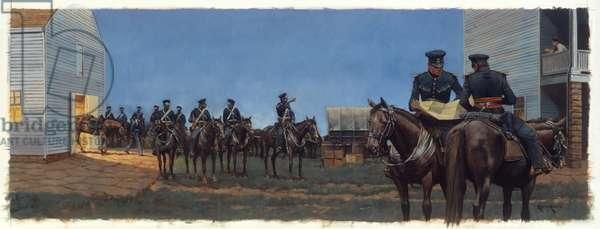 Fort Scott Dragoons, 1998 (oil on linen)