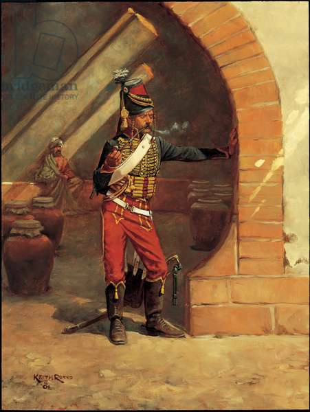 Trooper: 7th Bis Hussars, Egypt (second study), 1799, 2001 (oil on board)