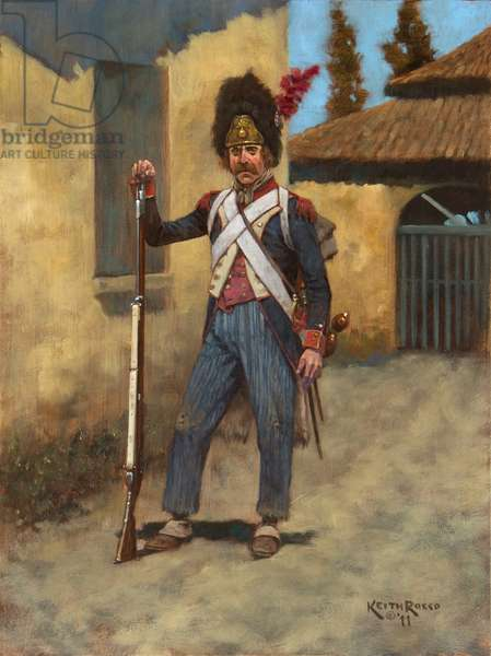 French Infantry Grenadier, 1796, 2011 (oil on board)