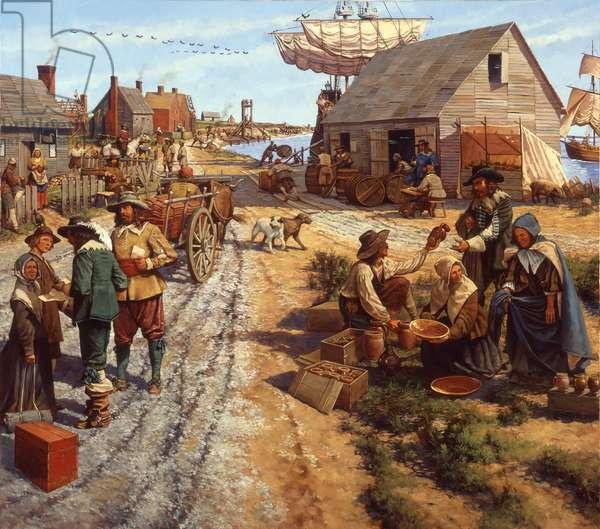Jamestown 1630s, 2001 (oil on linen)