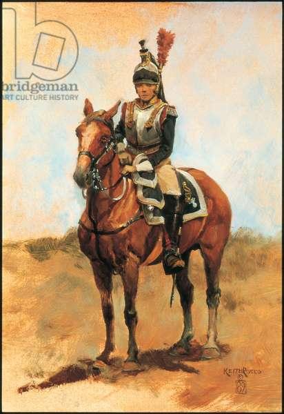Cuirassiers Officer 1809, 1989 (oil on board)