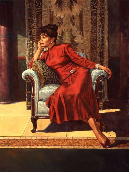 The Red Dress, 2002 (oil on linen)