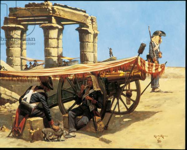 French Artillery in Egypt, Desaix's Expedition, 1798, 1998 (oil on linen)