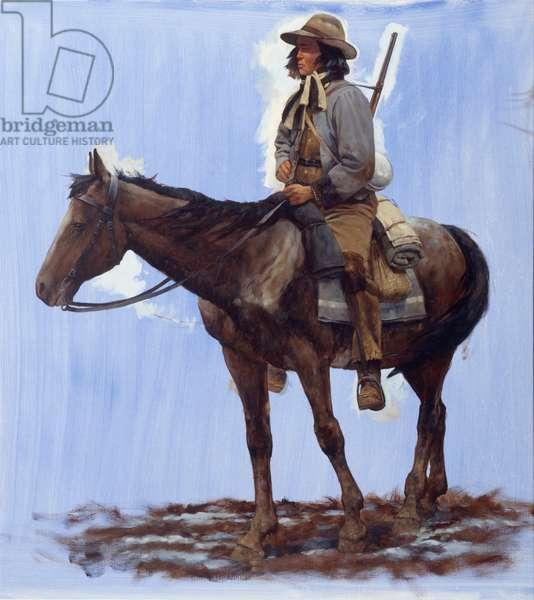Pea Ridge - Cherokee, Mounted Rifles, 2009 (oil on linen)