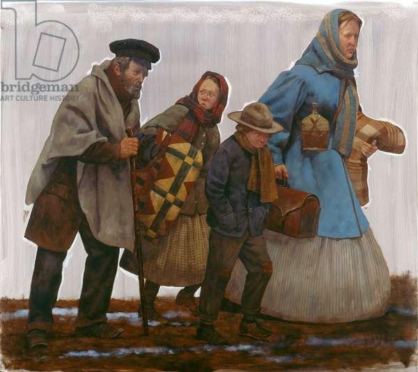 Pea Ridge - Refugees (oil on linen ), 2009 (oil on linen )