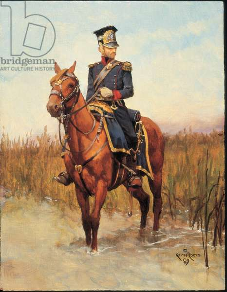Officer: 17th Grand Duchy of Warsaw (Lithuanian) Lancers 1813, 1989 (oil on board)