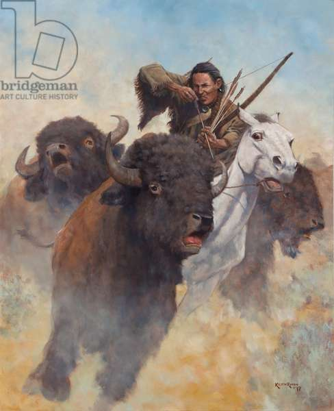 Buffalo Hunter, 2017 (oil on linen)