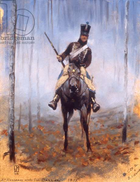 2nd Hussar after Colonel Barbier 1805, 2006 (oil on board)
