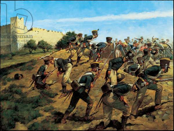 The Battle of Fuengirola - 14-15 October 1810, 2005 (oil on board)