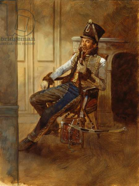 5th Hussar Officer , 2007 (oil on board)