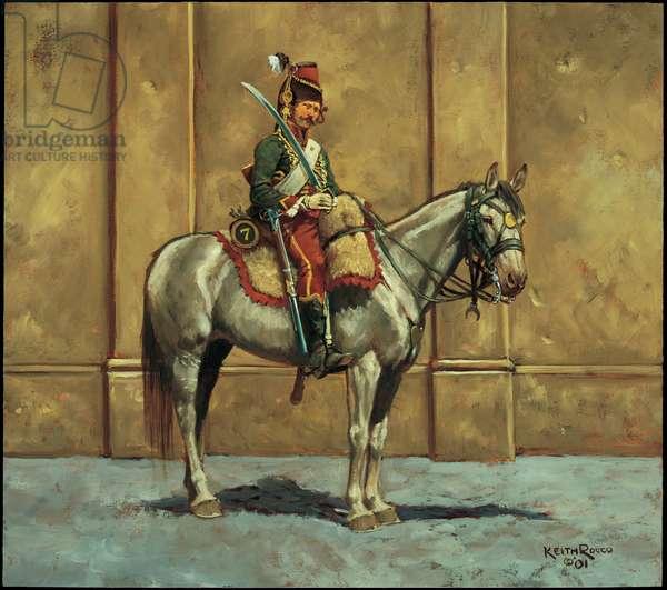 Trooper: 7th Hussars, 1794, 2001 (oil on board)