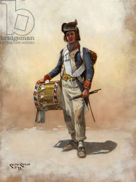 French Infantry Drummer, 1796, 2011 (oil on board)