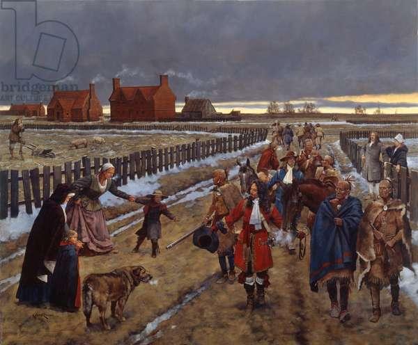Jamestown 1690, 2008 (oil on linen)