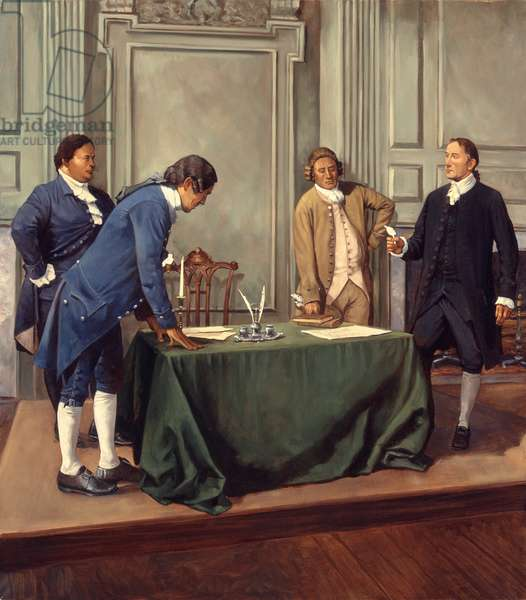 Thomas Stone - Declaration of Independence, 1998 (oil on linen)