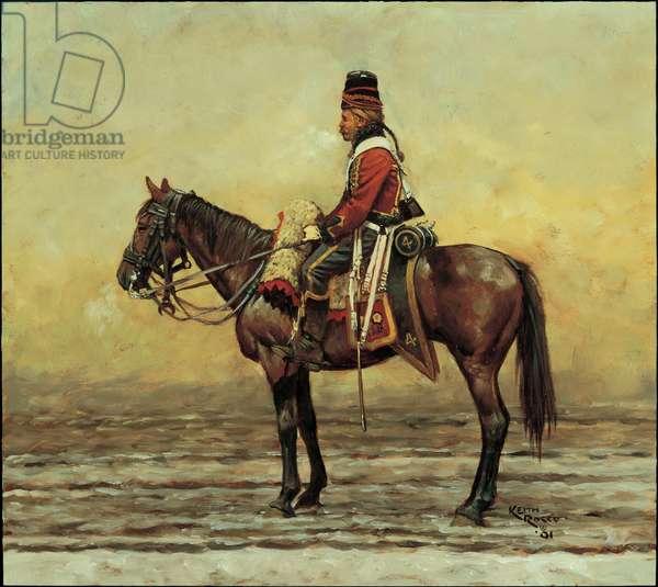 Trooper: 4th Hussars, 1796, 2001 (oil on board)