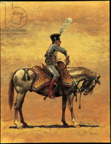Officer: 3rd Hussars 1809, 1997 (oil on linen)