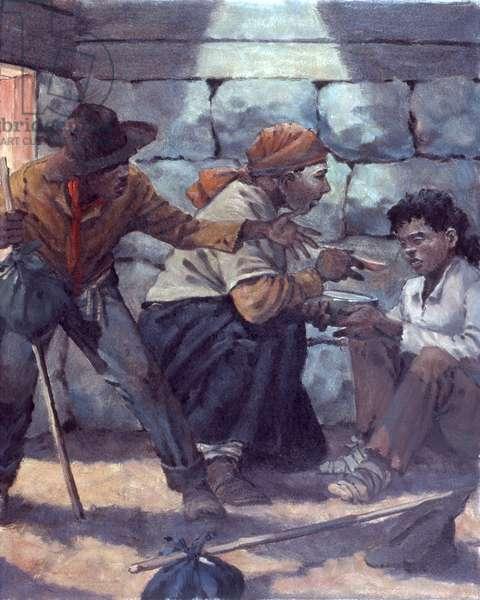 Underground Railroad #3, 1987 (oil on board)