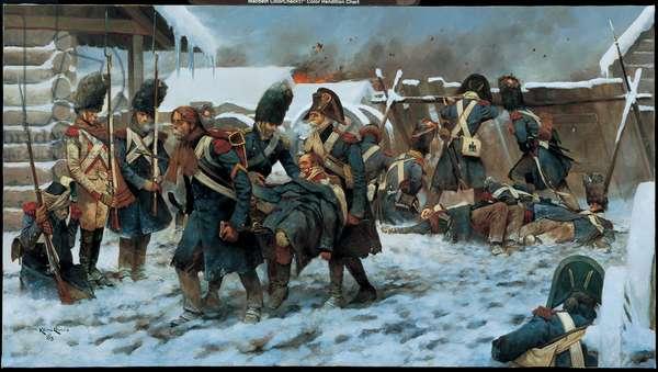 The Last Salute, Krasnoi - 1812, 2003 (oil on linen)