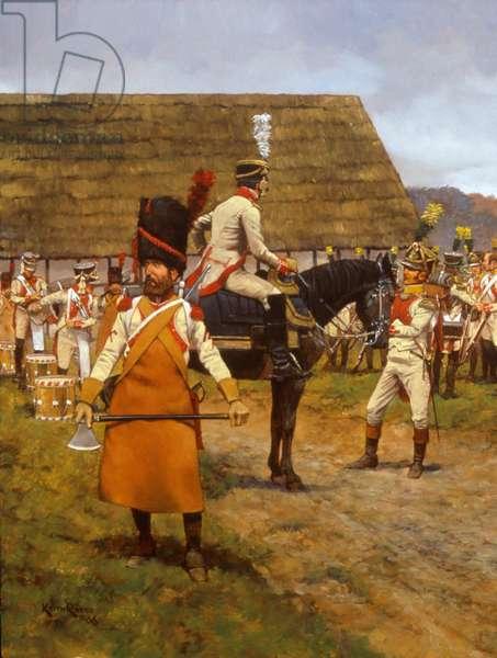 17e Regiment Ligne - 1807, 2008 (oil on linen)