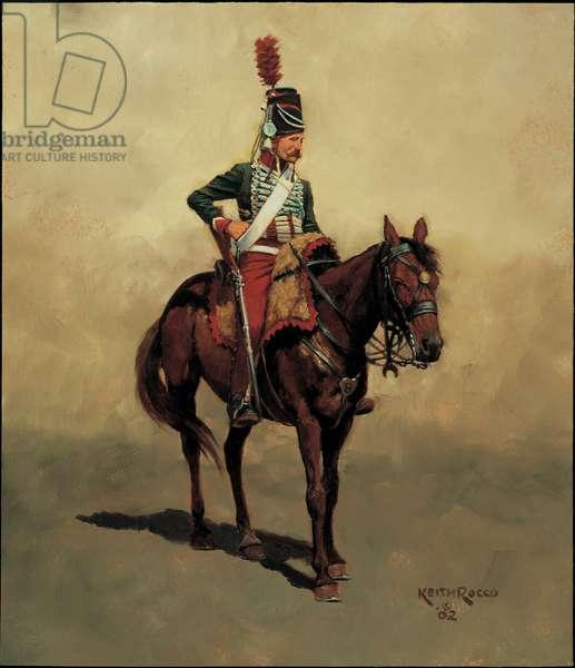 Trooper: 8th Hussars, 1799, 2002 (oil on board)